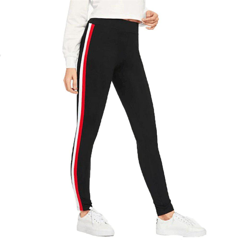Trendy Women's Ribbons Side Sports Casual Pants