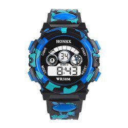 HONHX Men Camouflage Waterproof Outdoor Sports Utility Electronic Watch -