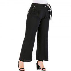 Fashionable Solid Color Casual Pants -