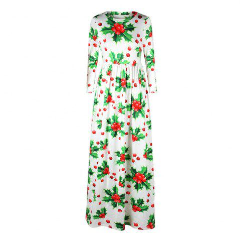 Digital Printing New Round Neck Autumn and Winter Sets of Long-sleeved Dress