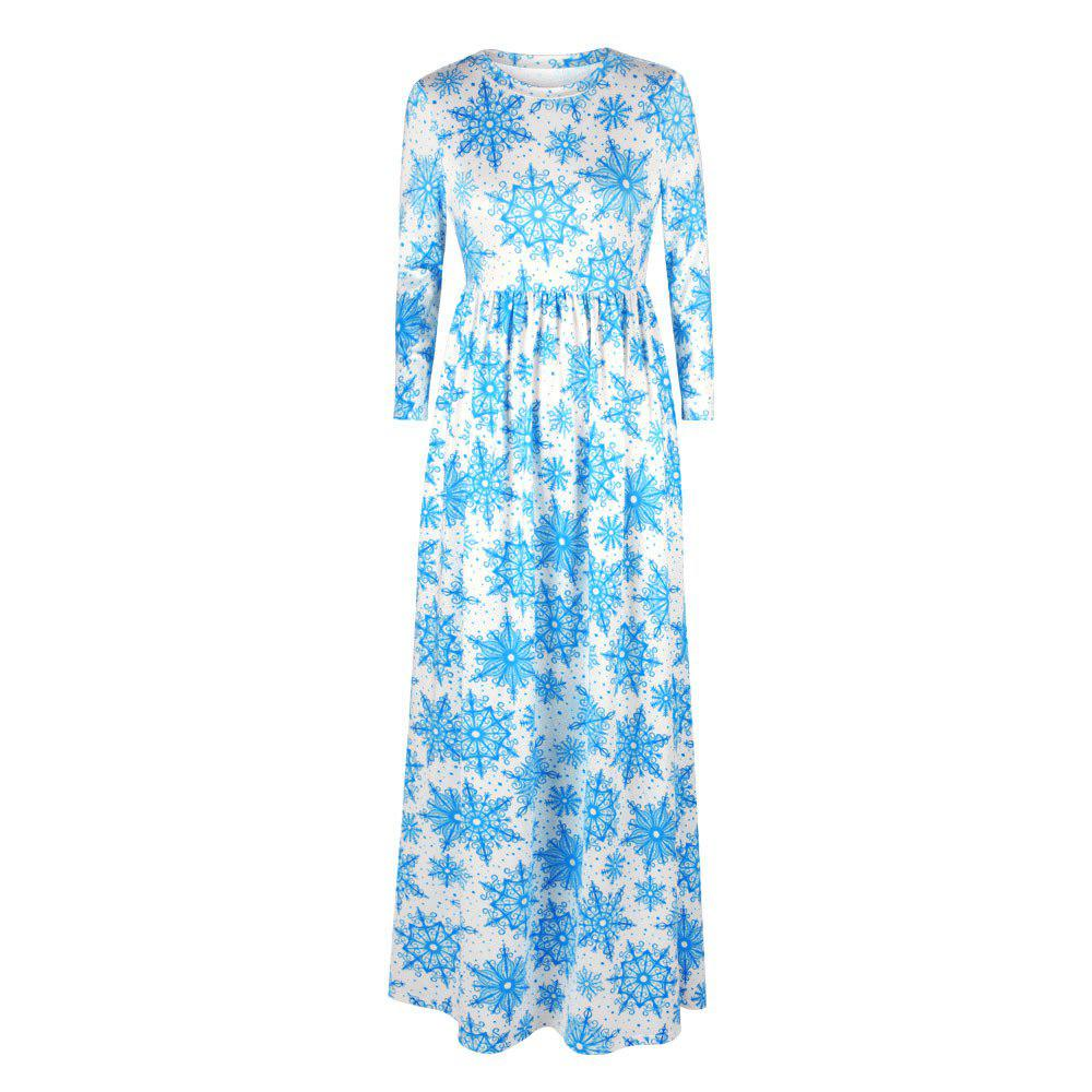 New Digital Printing New Round Neck Autumn and Winter Sets of Long-sleeved Dress