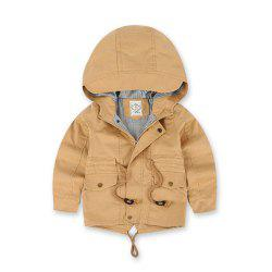 Children Winter Outdoor Fleece Jackets For Boys Clothing Hooded Warm Outerwear -