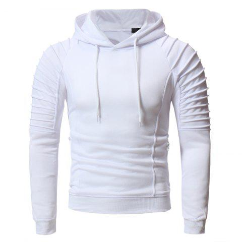Men's Casual Slim Hooded Turtleneck Sweater Personality Pleated Design
