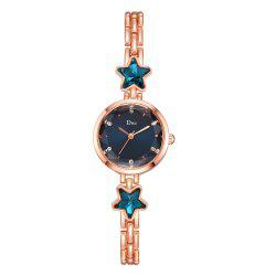 Ms Alloy Temperament Noble Pentagram Strap Quartz Watch -