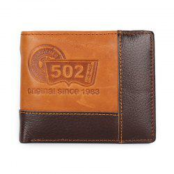 Gentleman Personality Splicing Leather Wallet Purse -