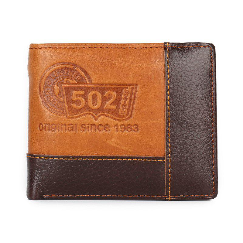 Discount Gentleman Personality Splicing Leather Wallet Purse