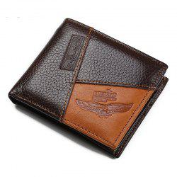 Men'S Leather Stitching Personality Fashion Wallet Purse -