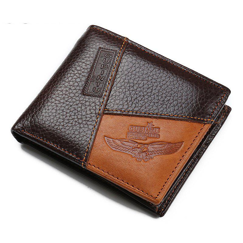 Fancy Men'S Leather Stitching Personality Fashion Wallet Purse