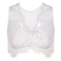 MISSOMO Women's Fashion Sexy Lace Lace Vest Bra White -
