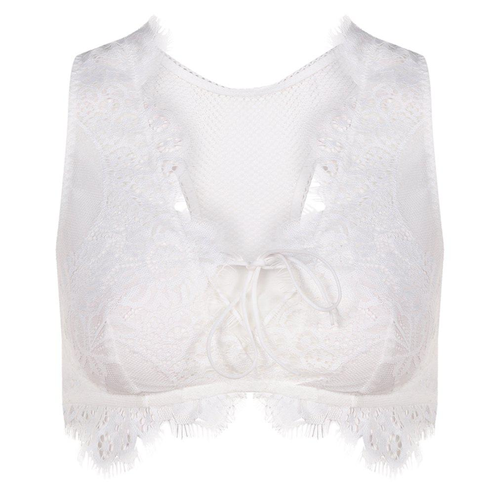 Shop MISSOMO Women's Fashion Sexy Lace Lace Vest Bra White