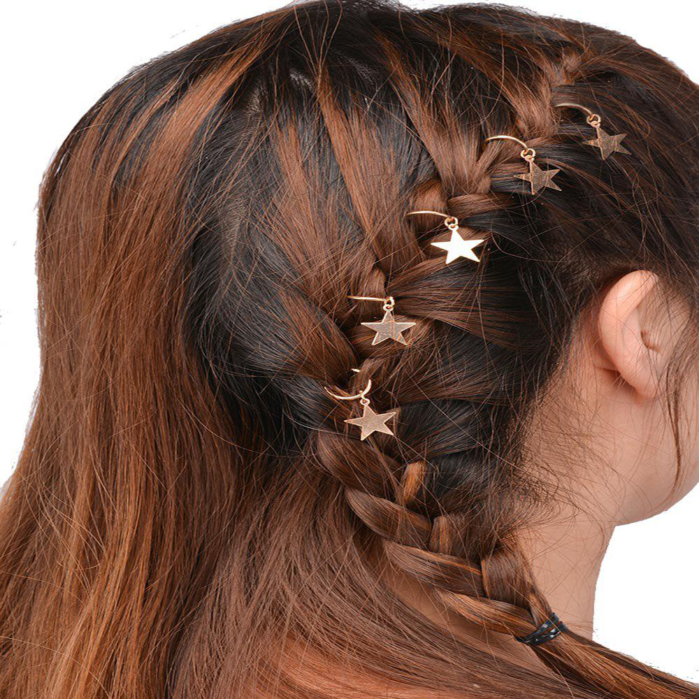 Personalized Casual Hair Accessories Travel DIY Five Gold Star Headdress