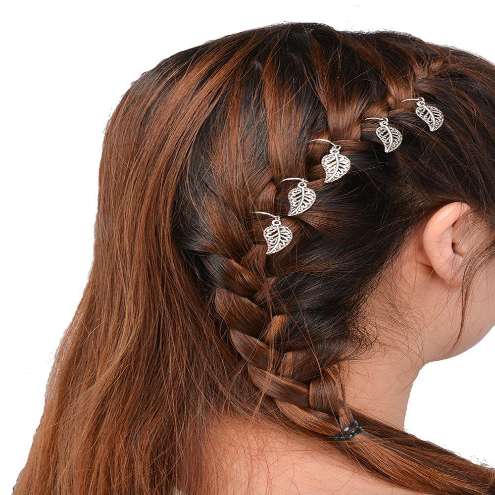 Fancy Personalized Casual Hair Accessories DIY Five Gold Or Silver Leaf Headdress