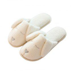 Wood Indoor Anti-skid and Warm Cotton Slippers for Women -
