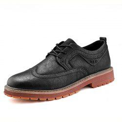Casual Fashion Men Anti-Skid Wear Leather Shoes -