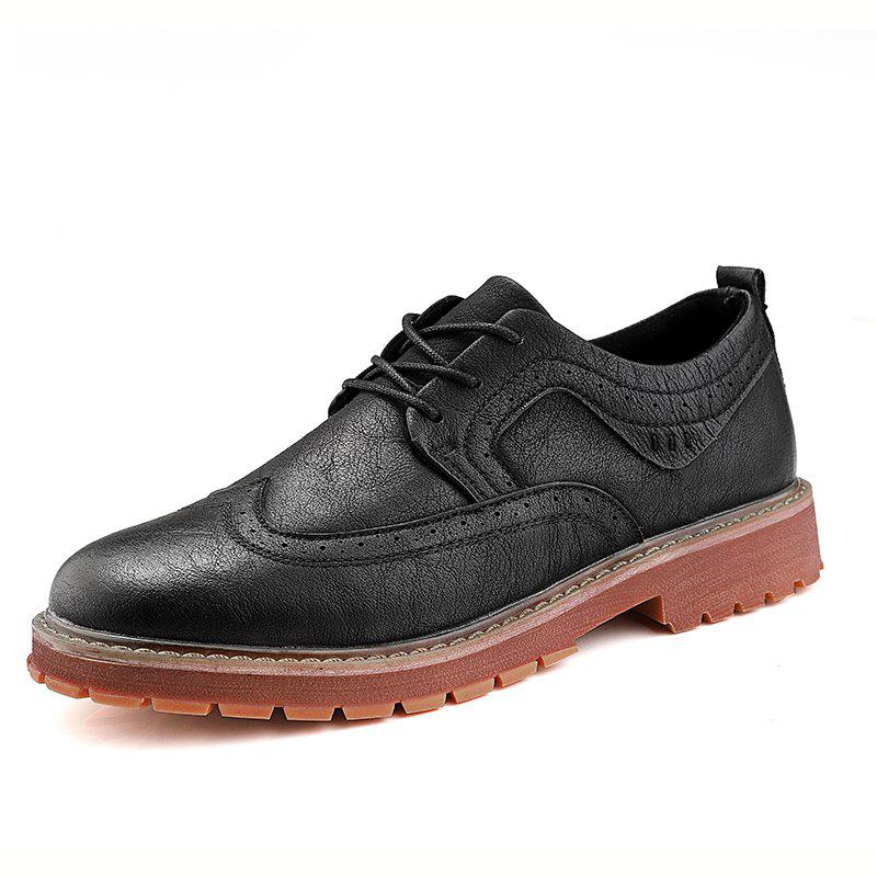 Latest Casual Fashion Men Anti-Skid Wear Leather Shoes