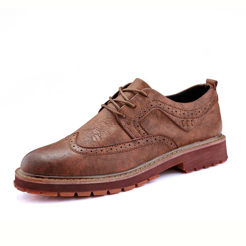 Sale Casual Fashion Men Anti-Skid Wear Leather Shoes
