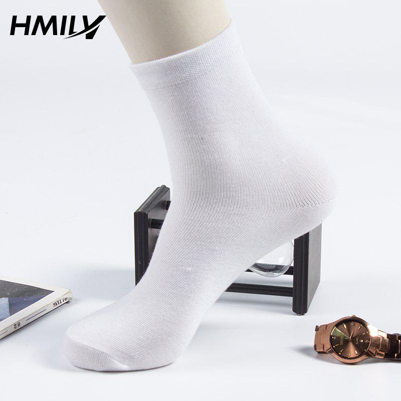 New Business Breathable Men'S Socks 5 Pairs Simple Gift Box