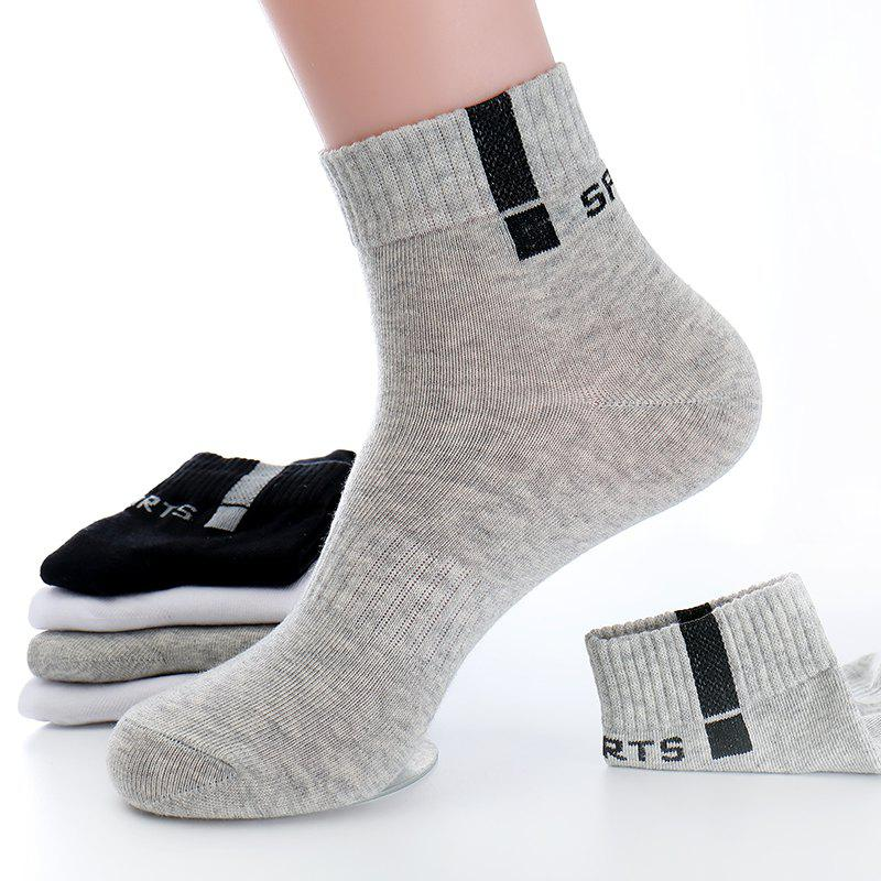 Discount Sports Leisure Men'S Cotton Socks 5 Pairs Simple Gift Box