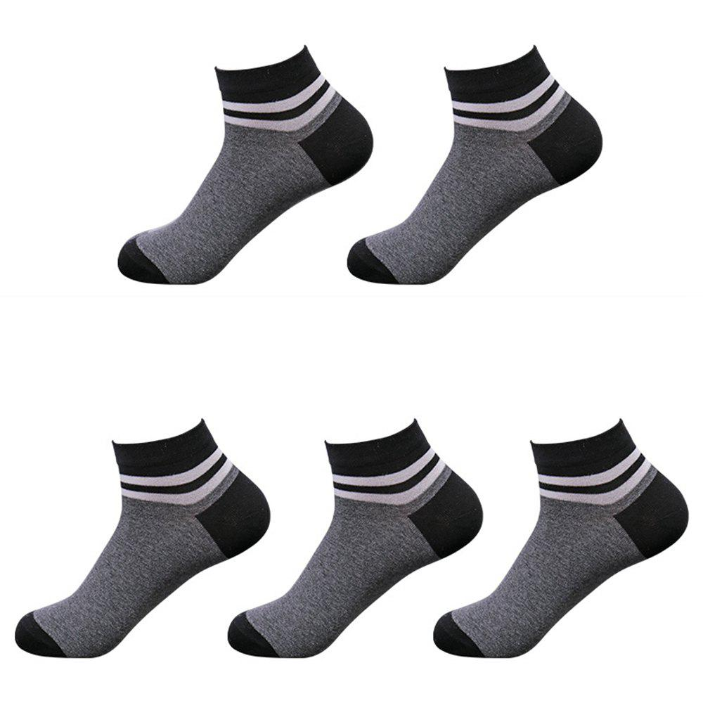 Cheap Casual Men Can Wear 5 Pairs of Cotton Socks in Four Seasons