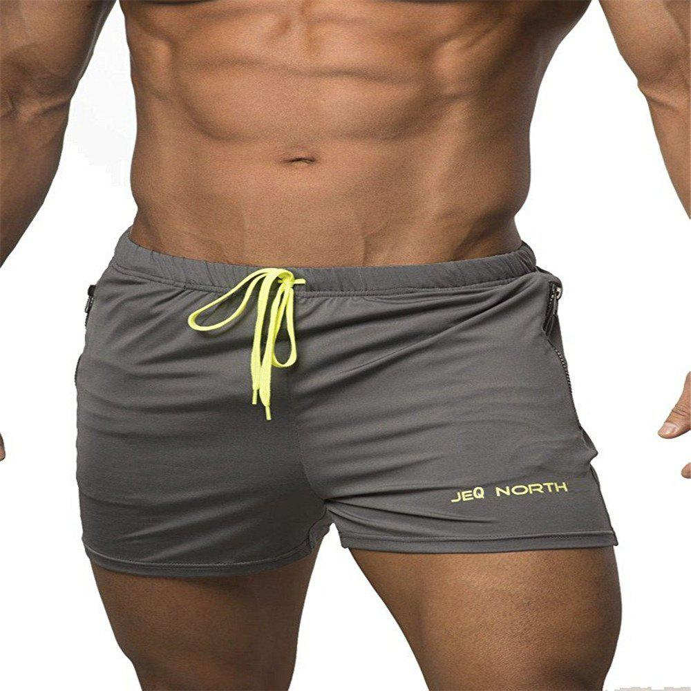 Short de compression pour homme SolidColor Gym Short Gris 2XL