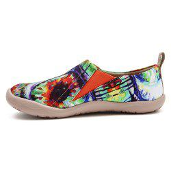 UIN Chaussures pour Femmes The Eye Painted Canvas Slip-On Chaussures de Voyage Casual -