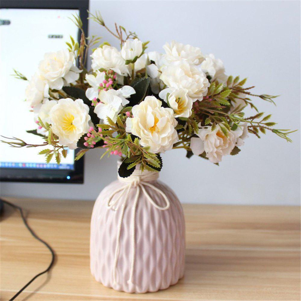 2018 6 Heads Peony Artificial Flowers Wedding Home Party Decorations