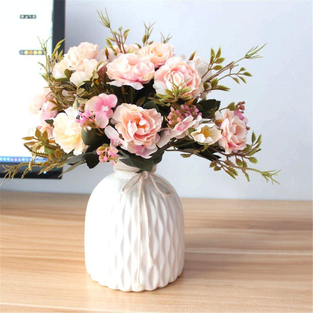 6 Heads Peony Artificial Flowers Wedding Home Party Decorations