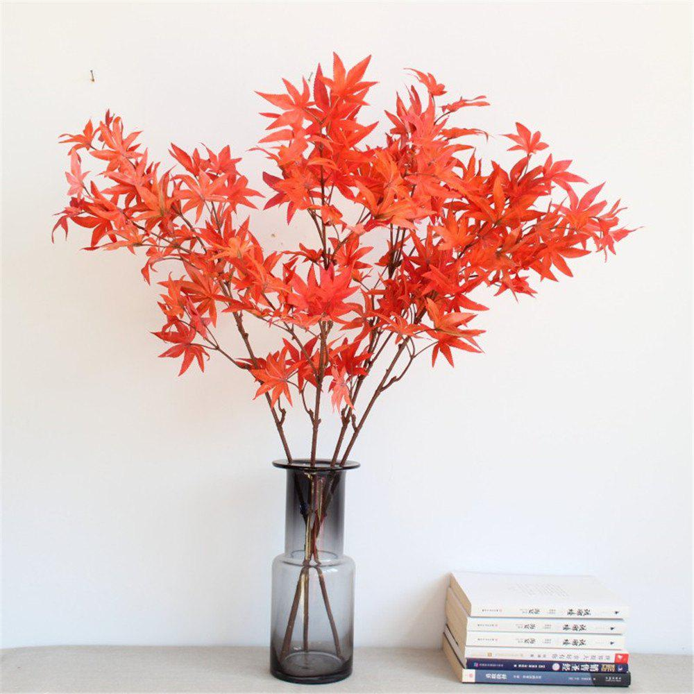 Shops 1PCS Maple Leaves Artificial Flowers Home Display Wedding Decorations