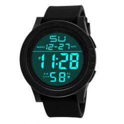 HONHX Men's Fashion LED Outdoor Sports Waterproof Electronic Watches -