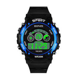 HONHX Men's Fashion LED Outdoor Sports Waterproof Digital Watch -