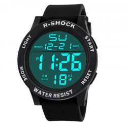 HONHX Men's Fashion Large Screen LED Movement Waterproof Electronic Watch -