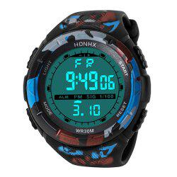 HONHX Men Outdoor LED Movement Waterproof Electronic Digital Watch -