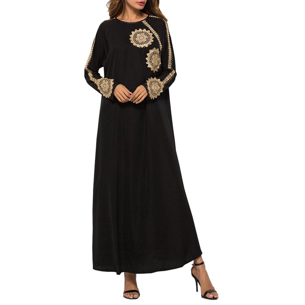 Fashion Embroidered Caftan Robe with Good Quality