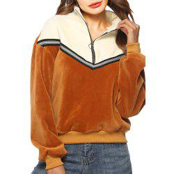 Fashionable Stitching Thickening Coat -