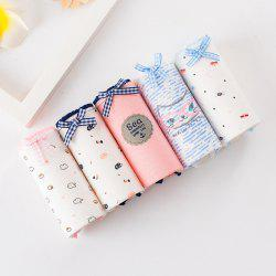 5PCS Boxed Combed Cotton Small Fresh Printed Underwear -