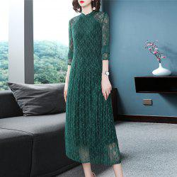 Fashion Slim Pleated Middle Length Dress -