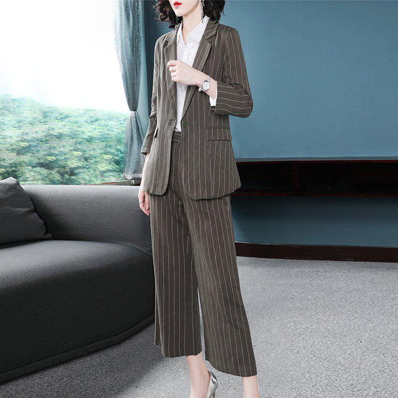 Buy Autumn Fashion Imported Linen Three Piece