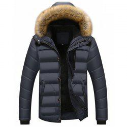 New Man Warm Fashion with Hooded Casual Parka Coat -