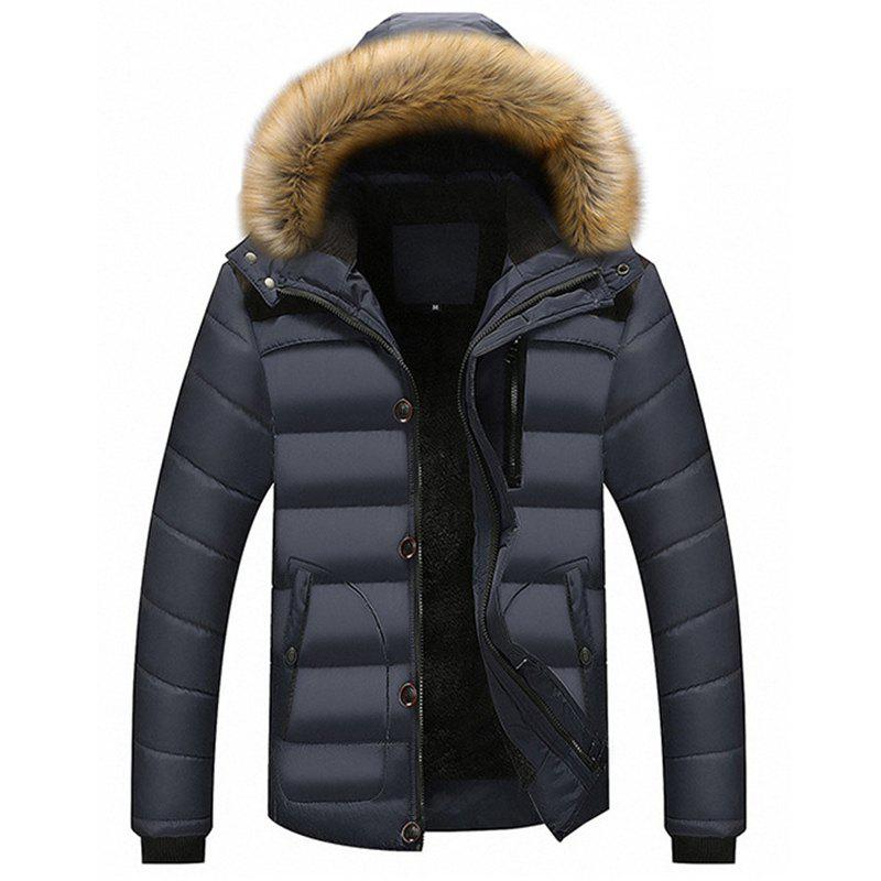 Shops New Man Warm Fashion with Hooded Casual Parka Coat