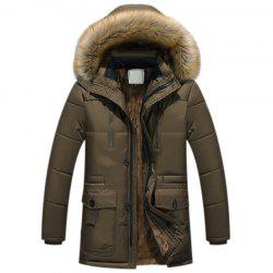 New Man Fashion Full Sleeve with Hooded Winter Loose Casual Parka Coat -