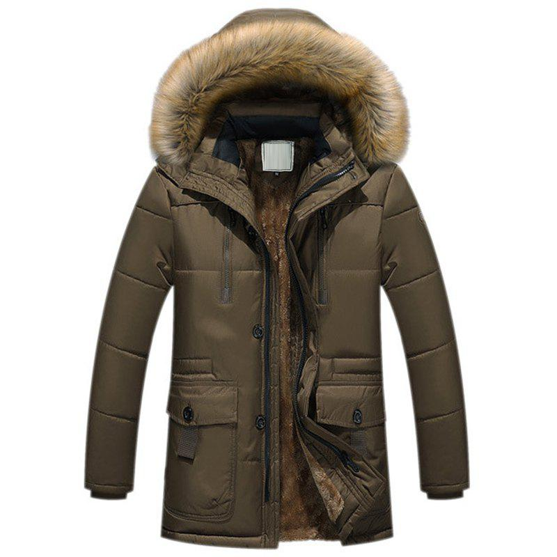 Latest New Man Fashion Full Sleeve with Hooded Winter Loose Casual Parka Coat