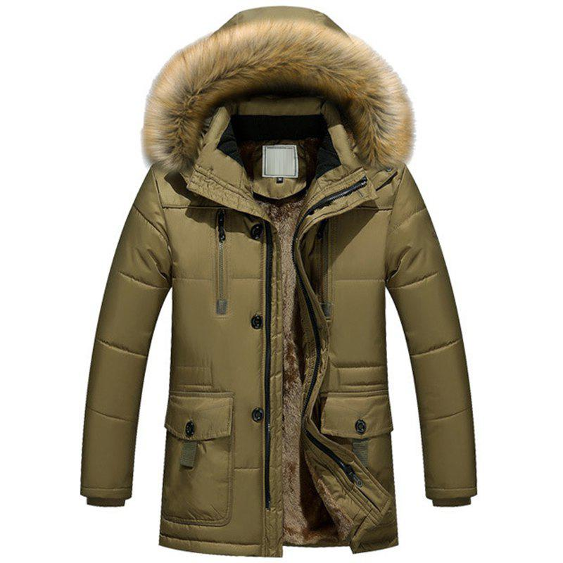 Fashion New Man Fashion Full Sleeve with Hooded Winter Loose Casual Parka Coat
