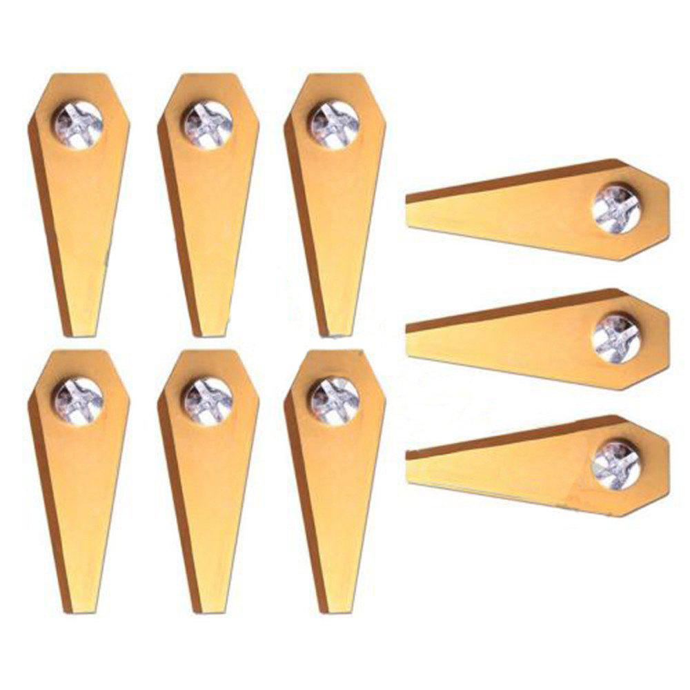 Outfits 9PCS Titanium Golden Replacement Robotic Lawn Mower Blade For BOSCH INDEGO