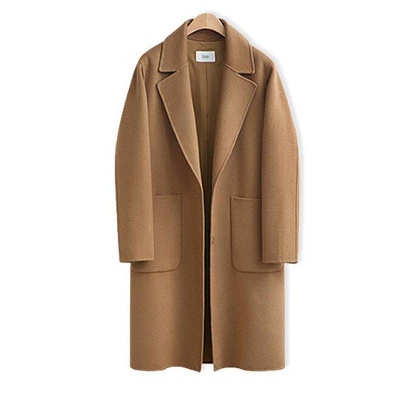 434bfd5f6a Latest 4XL Woolen Jacket Female Long Coat Solid Color Women Winter Coats