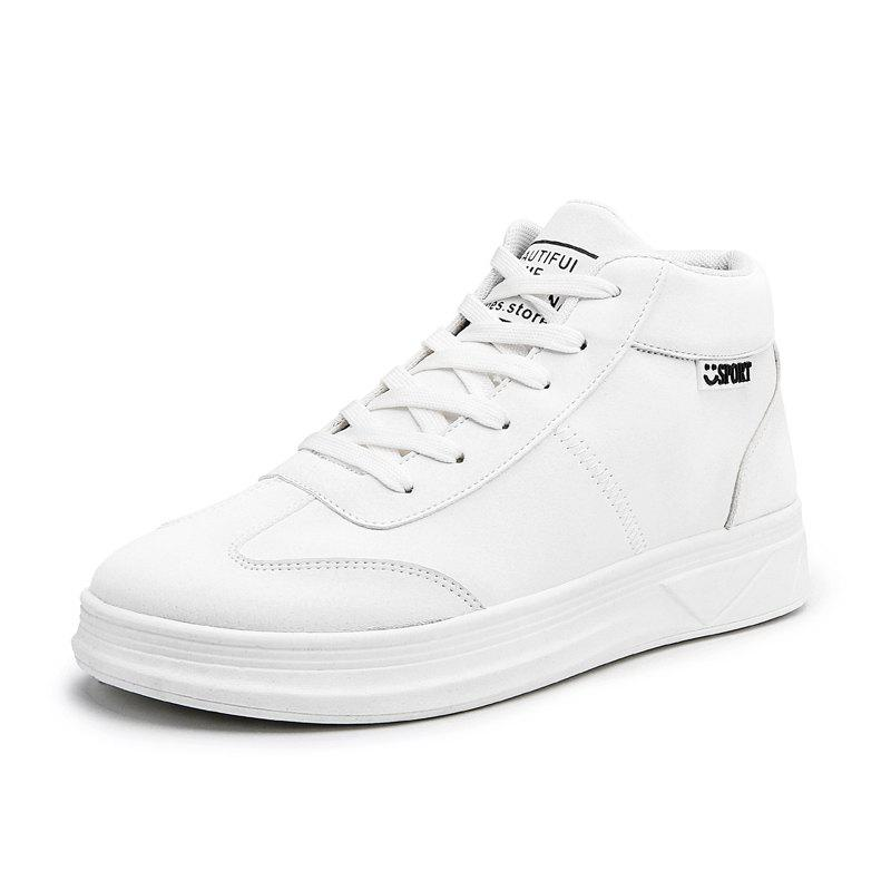 2019 High Top Sneakers Retro Sneakers Men And Women White Shoes Wild
