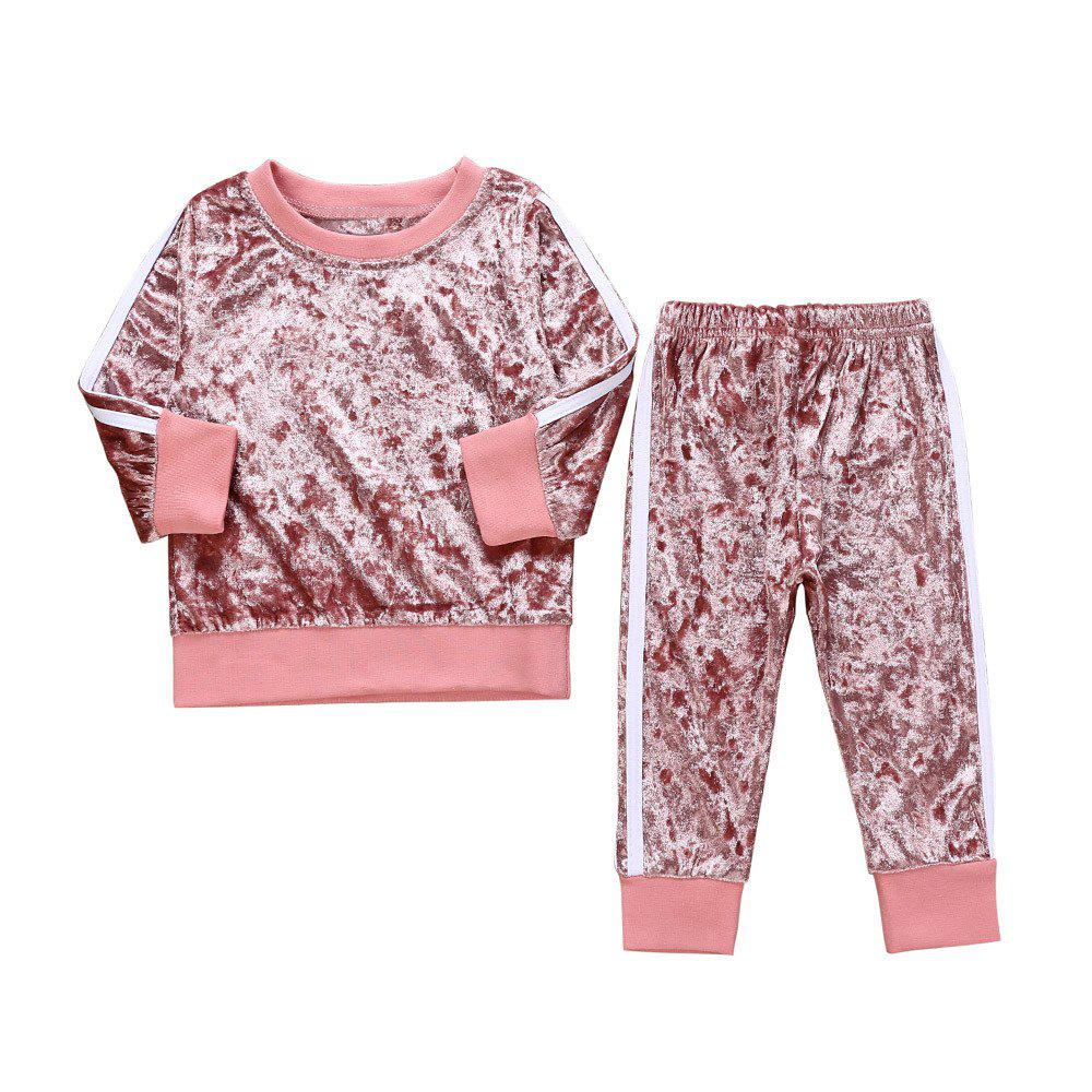 26c589c0f3d80 Baby Girls Clothes Clothing Set Long Sleeve Tops+Pants Winter Clothes