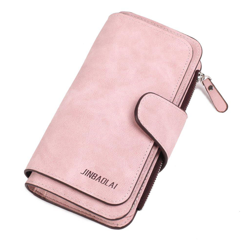 Store Long Frosted Fabric Hasp Women'S Bag Multi-Card Mobile Women'S Wallet