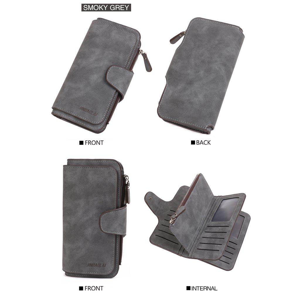 Shop Long Frosted Fabric Hasp Women'S Bag Multi-Card Mobile Women'S Wallet