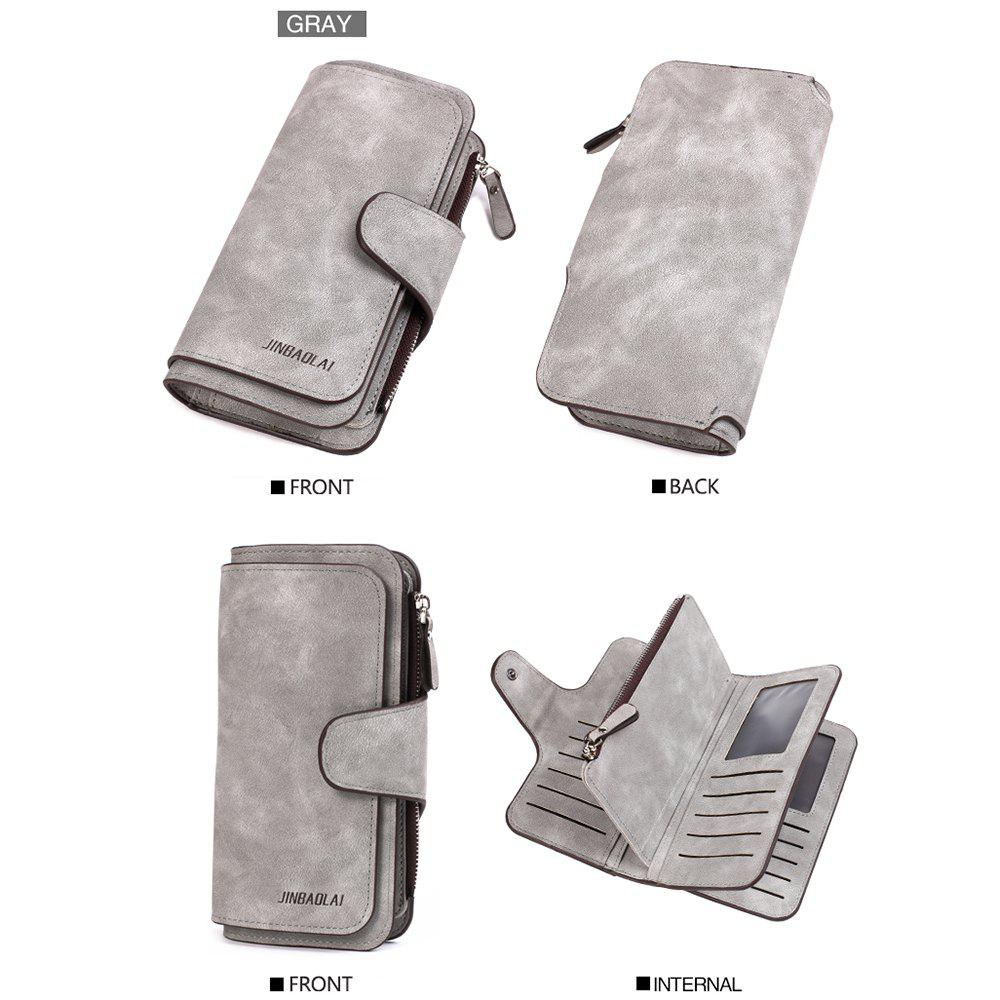 Online Long Frosted Fabric Hasp Women'S Bag Multi-Card Mobile Women'S Wallet