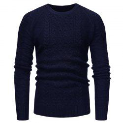 Men's Fashion Repair The Body Round Collar Coloured Sleeve Sweater -